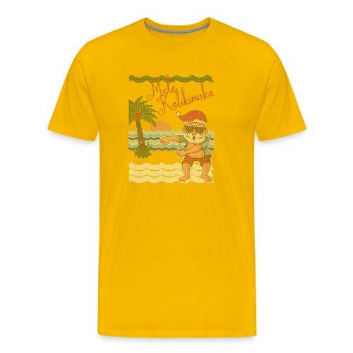 Ugly Christmas Sweater Hawaiian Dancing Santa - Men's Premium T-Shirt