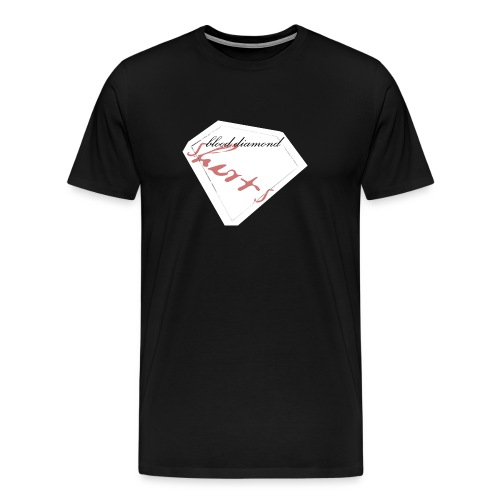 Blood Diamond -white logo - Men's Premium T-Shirt