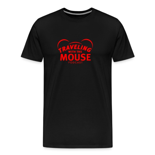 TravelingWithTheMouse logo transparent RED - Men's Premium T-Shirt