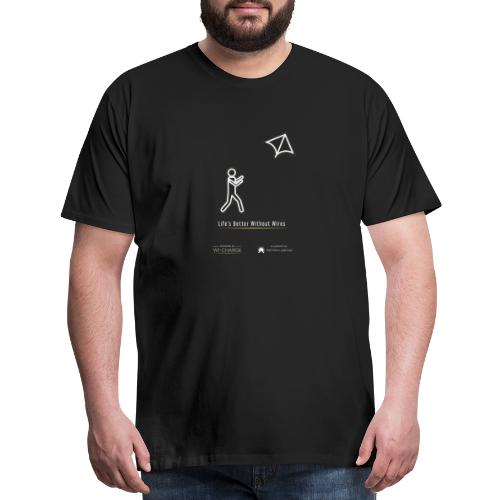 Life's better without wires: Kite - SELF - Men's Premium T-Shirt