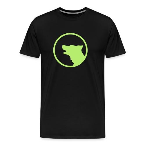 Wolf Silhouette Vector - Men's Premium T-Shirt