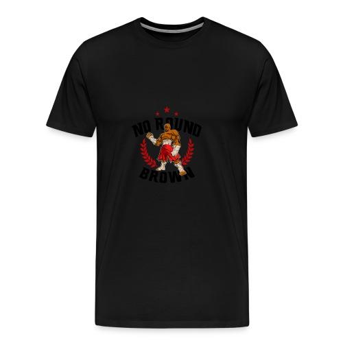 No Round Brown (white) - Men's Premium T-Shirt