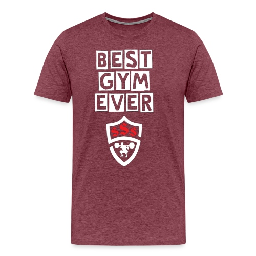 Best Gym Ever White and Red - Men's Premium T-Shirt