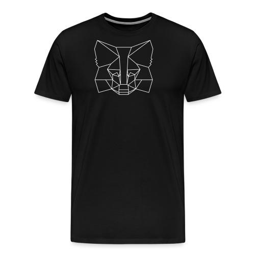 MetaMask Fox Outline - White - Men's Premium T-Shirt