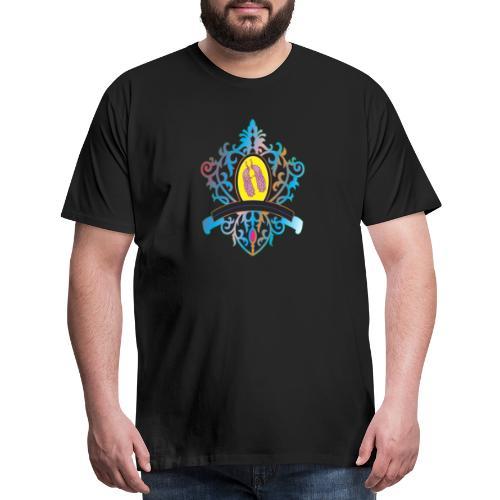 peacock love logo - Men's Premium T-Shirt