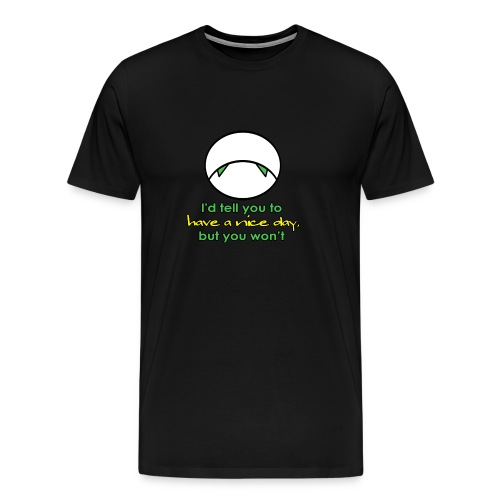 sad droid marvin - Men's Premium T-Shirt