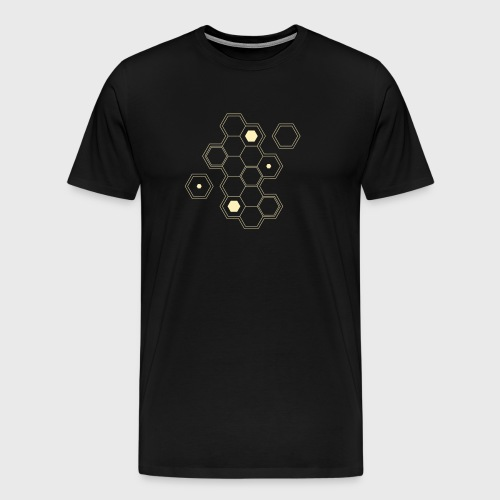 gamer,dnd dungeons and dragons,board game,hexagon, - Men's Premium T-Shirt