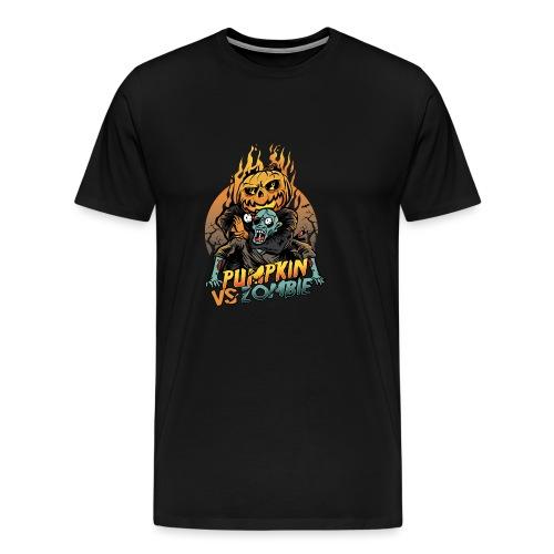Pumpkin vs Zombie - Men's Premium T-Shirt