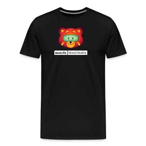 Foxr Head (white MR logo) - Men's Premium T-Shirt