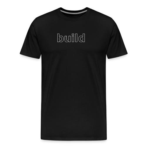 build logo (white for use on Dark Shirts) - Men's Premium T-Shirt