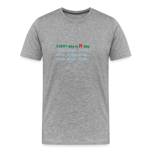 every day is pi day - Men's Premium T-Shirt