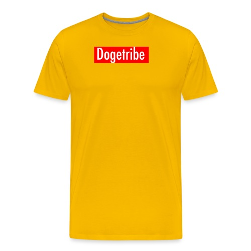 Dogetribe red logo - Men's Premium T-Shirt