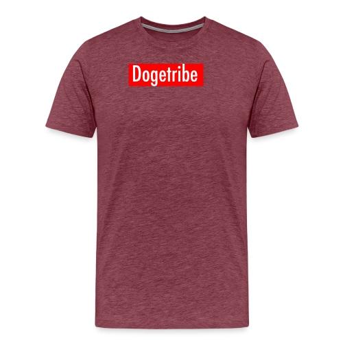 Dogetribe red logo - Men's Premium T-Shirt