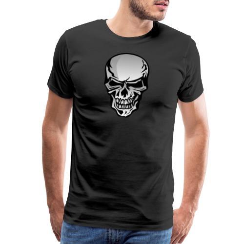 Chrome Skull Illustration - Men's Premium T-Shirt