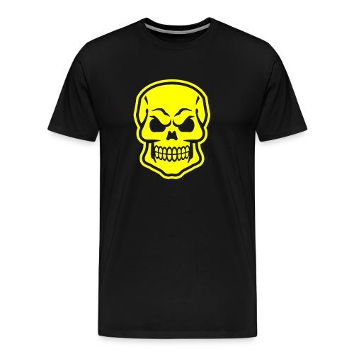 Skull vector yellow - Men's Premium T-Shirt