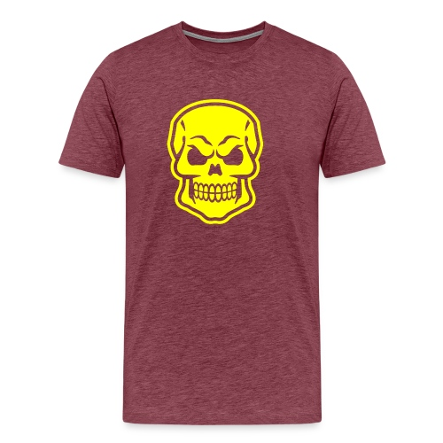 Skull vector yellow - Men's Premium T-Shirt