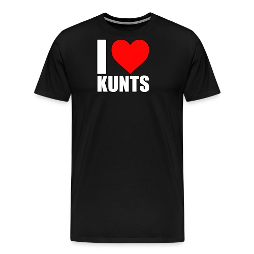 I heart kunts - Men's Premium T-Shirt