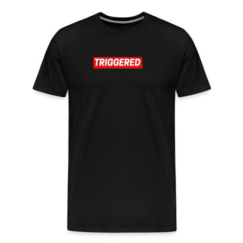 Triggered Logo on Black T-Shirt - Men's Premium T-Shirt