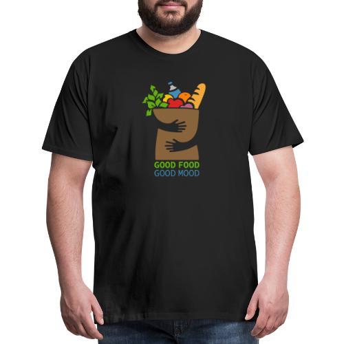 Good Food Good Mood | Minimal Colorful Food Design - Men's Premium T-Shirt