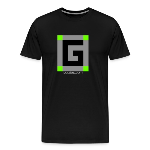 Guude Logo with White Text - Men's Premium T-Shirt
