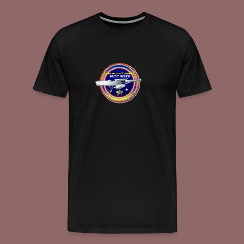 Alan Turing Ship Patch - Men's Premium T-Shirt
