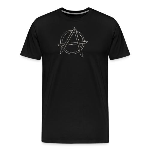 Anarchy in black silver - Men's Premium T-Shirt