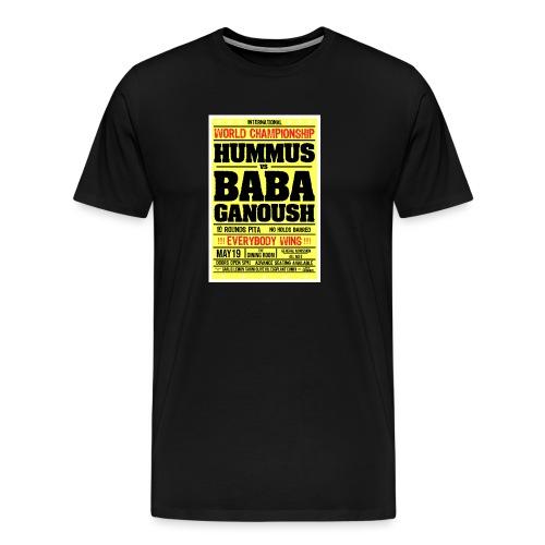 Hummus vs Baba Ganoush - Men's Premium T-Shirt