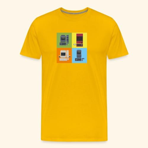 japanese computers color - Men's Premium T-Shirt