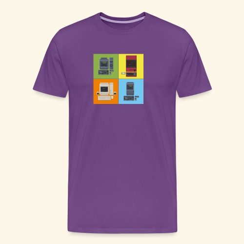 japanese computers color - Men's Premium T-Shirt