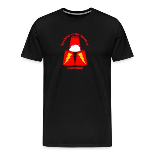 Sport Stacking: Stacking at the Speed of Lightning - Men's Premium T-Shirt