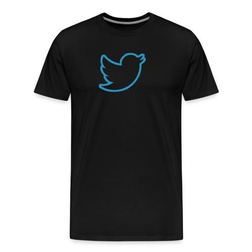 Twitter Bird Border - Men's Premium T-Shirt