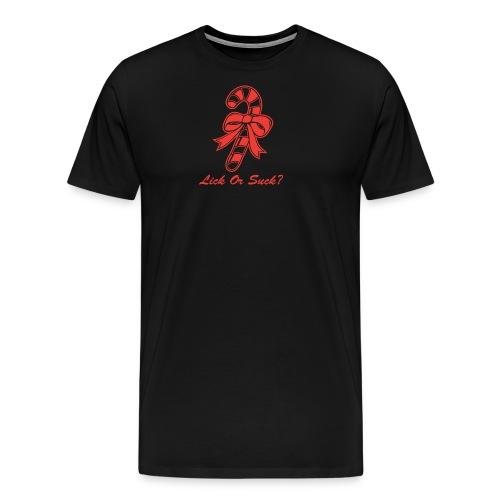 Lick Or Suck Candy Cane - Men's Premium T-Shirt