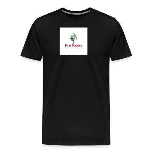 Fire Buddys Website Logo White Tee-shirt eco - Men's Premium T-Shirt