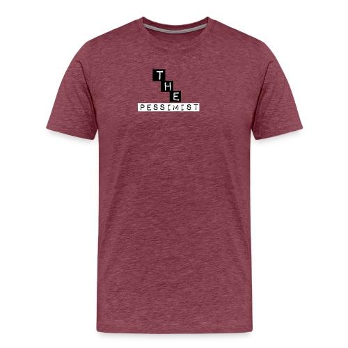 The pessimist Abstract Design - Men's Premium T-Shirt