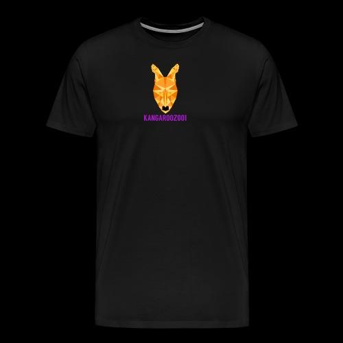 Kangaroozoo1 Logo & Name - Men's Premium T-Shirt