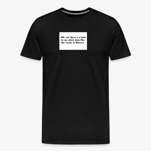 Holey Roads - Men's Premium T-Shirt