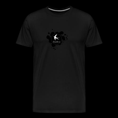 BlackBird Ink Spill Logo - Men's Premium T-Shirt