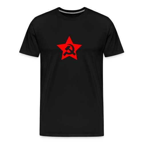 red and white star hammer and sickle - Men's Premium T-Shirt