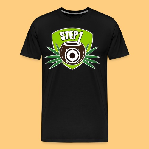 Step One Logo (Green) - Men's Premium T-Shirt