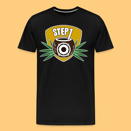 Step One Logo (Yellow) - Men's Premium T-Shirt