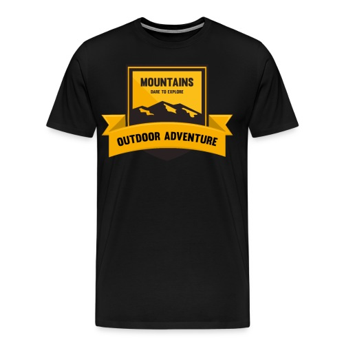 Mountains Dare to explore T-shirt - Men's Premium T-Shirt