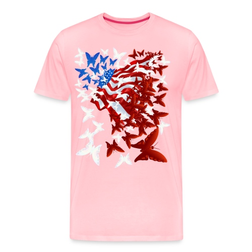 The Butterfly Flag - Men's Premium T-Shirt