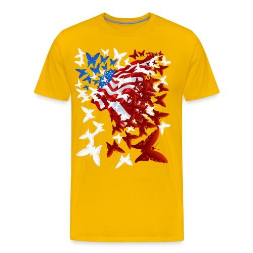The Butterfly Flag - Men's Premium T-Shirt