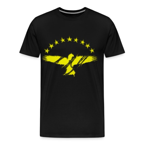 Gold Azorean Goshawk - Men's Premium T-Shirt
