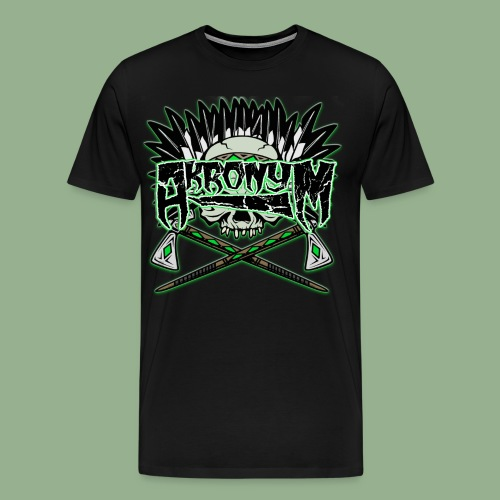 Akronym Skull and Logo - Men's Premium T-Shirt
