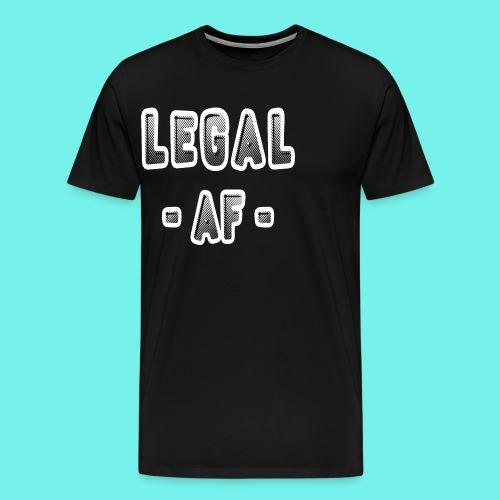 Legal AF Funny 21st Birthday Party T-Shirt - Men's Premium T-Shirt