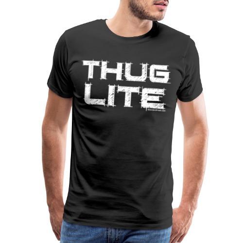 Thug Lite WHT.png - Men's Premium T-Shirt