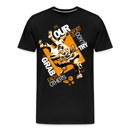 Judo Shirt BJJ Shirt Grab Design for dark shirts - Men's Premium T-Shirt