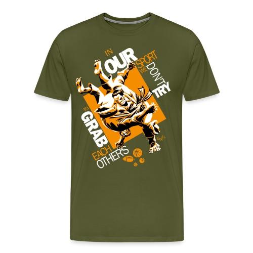 Judo Grab Design for dark shirts - Men's Premium T-Shirt