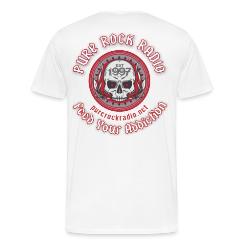 PRR Molenoise Skull (Front) + Circle Logo (Back) - Men's Premium T-Shirt